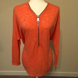 Alfani loose fitting top in coral ( orange )